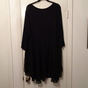 LOGO by Lori Goldstein Tunic | Black | GUC | 2X